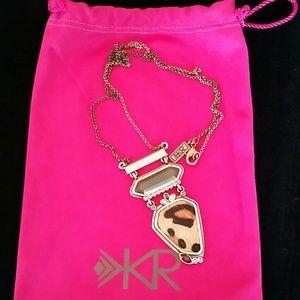Silpada KR brass cowhide necklace